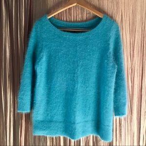Ann Taylor Teal Soft Angora Sweater Size L